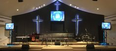 Neon-Crosses-Stage-Design
