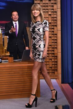 Taylor Swift makes an appearance on The Tonight Show Starring Jimmy Fallon on August 13, 2014. Getty Images -Cosmopolitan.com