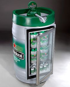 Heineken Mini Fridge Complete With Sticker Wrap To Mock