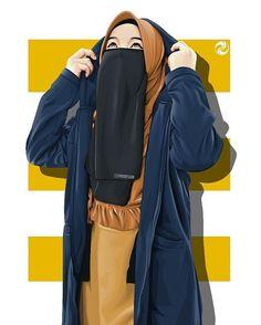 """ااسفك on Instagram: """"Post ulang😅 Yang tadi kesalahan🙏 Fotonya kepotong , Instagram eror padahal tadi mah nggak #vektorartwork #vektorface #vektor #vexelart…"""" Anime Muslim, Muslim Hijab, Arab Girls Hijab, Muslim Girls, Hijabi Girl, Girl Hijab, Love Cartoon Couple, Girl Cartoon, Niqab Fashion"""