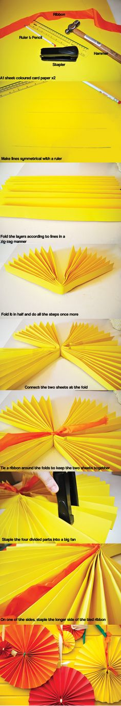 DIY Paper fan decorations!