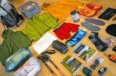 Gear for a thru-hike of the 1,200 mile Pacific Northwest Trail. Photo: Jeff Kish for GearJunkie. Read Jeff's full trip report at gearjunkie.com/pnt.