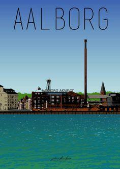 Aalborg Akvavit fra Rønne Plakater Aalborg, Places Ive Been, Places To Go, Visit Denmark, Scandinavian Countries, Odense, Aarhus, Copenhagen Denmark, Summer Travel