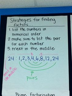 factors - excellent idea. might do several of these before map test