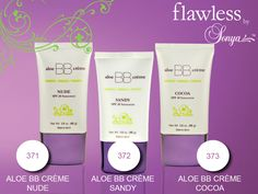 Aloe BB creme with SPF 20 was created exclusively for Flawless by Sonya to hydrate, prime, conceal and offer sun protection creating a soft, luminous glow, leaving the skin looking natural and flawless. SO popular we keep selling out!