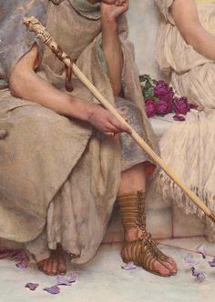 Lawrence Alma Tadema,An eloquent silence (detail) 1890