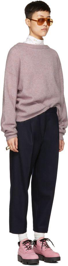 Acne Studios - Pink Mohair Dramatic Sweater Acne Studios 0b48666fcb17f