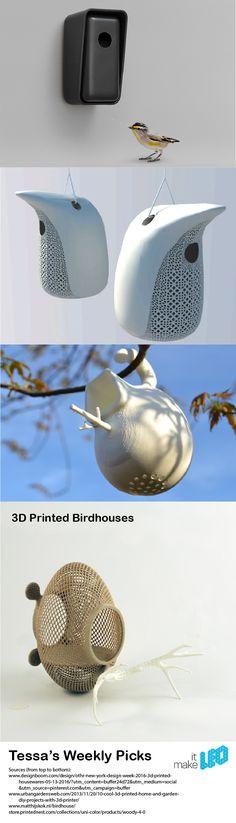 Make it LEO_Weekly Pick_3D Printed Bird Houses