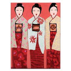 Artista Carril Tres de Anna Blatman impresión de la pintura sobre lienzo