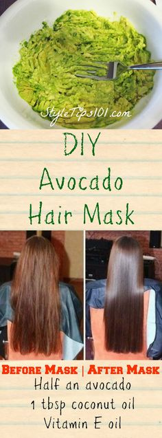 DIY Avocado Hair Mask #HairMask