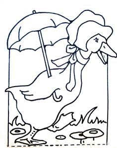Duck With Unbrella Coloring Page Free ColoringColoring PagesChristmas ScenesColouring