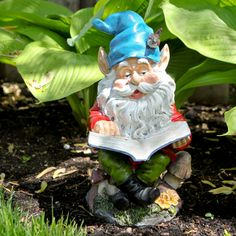 Happy Pappy Garden Gnome with Book