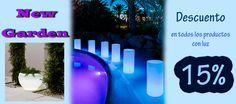 15% de descuento en todos los producto de luz de New Garden hasta el 31 de Agosto de 2017.  Clic: https://jardineriakuka.com/819-new-garden-iluminaci%C3%B3n  Clic: https://jardineriakuka.com/888-maceteros-luz-new-garden  Clic: https://jardineriakuka.com/889-maceteros-solar-mas-bateria-new-garden  #luz #newgarden #maceterosluz #maceterosconluz