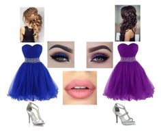 """Blue & Purple Bridesmaid Dresses"" by hazzastylesfan123 ❤ liked on Polyvore featuring Diego Dolcini, Sephora Collection and Anastasia Beverly Hills"