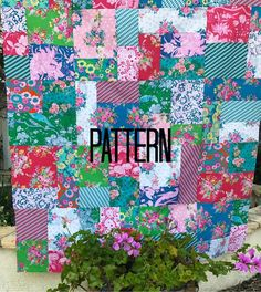 Working on the cover for my random patchwork pattern. Quilt Square Patterns, Scrap Quilt Patterns, Square Quilt, Cool Patterns, Sewing Patterns, Big Block Quilts, Quilt Blocks, Quilting Designs, Quilting Ideas