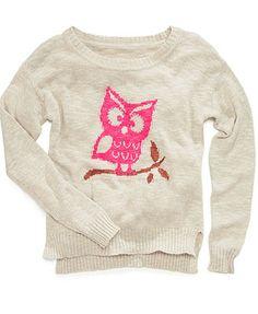 Heart N Crush Kids Sweater, Little Girls Animal Intarsia Top
