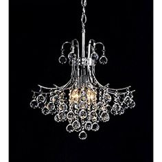 @Overstock - This Namika six-light crystal chandelier adds beauty and elegance to any decor. The light fixture features a chrome finish that shimmers amongst the crystals.   http://www.overstock.com/Home-Garden/Namika-6-Light-Crystal-and-Chrome-Chandelier/6708940/product.html?CID=214117 $129.99