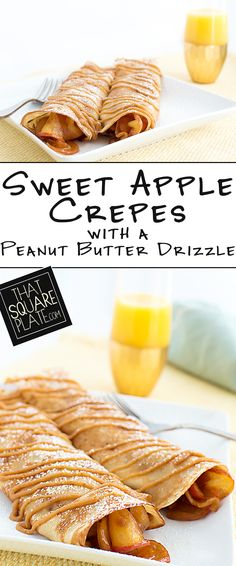 I am still thinking about these super indulgent apple crepes (and that peanut butter drizzle). You can have them for breakfast, and then you can have them for dessert!