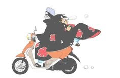"""""""Drive. I want to blow bubbles."""" Kisame and Itachi. How it really is."""