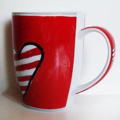 große Kaffee - Tasse / Kaffeebecher Porzellan