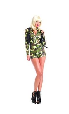 f87cf90b744c Adult Women s 2 Piece Camouflage Army Babe Romper Halloween Party Costume