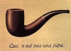 Ceci n'est pas une pipe,1928-1929, Huile sur toile,65x94cm, Los Angeles County Museum of Art, Ce tableau est une contradiction mais à la fois littéralement bien