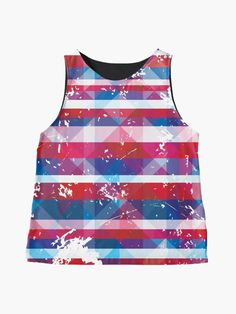 Beautiful Bold and Patriotic Red White and Blue American USA Striped Pattern Sleeveless Top Blouses For Women, Women's Blouses, Retro Shirts, Stripes Fashion, Striped Dress, Red And White, Fashion Dresses, Usa, American