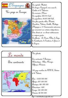 Cartes d'identité - pays Espagne et le monde: