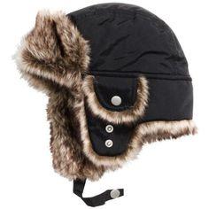 29ac1f4b D Boys Winter Hats Big Kids Nylon Russian/Aviator Winter Earflap Cap  Cotton, Polyester Waterproof fabric,Warm Faux Fur inside Elastic Slide Lock  Chin Strap ...