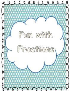 This packet includes 5 posters for fraction vocabulary, Math station games and activities, printable worksheets to be completed in stations or duri...