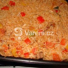 Fotografie receptu: Čínské nudle se zeleninou a kuřecím masem