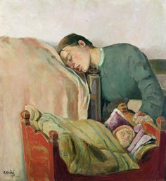 I think every mother can relate to this painting-<3-Krohg's Mother and Child
