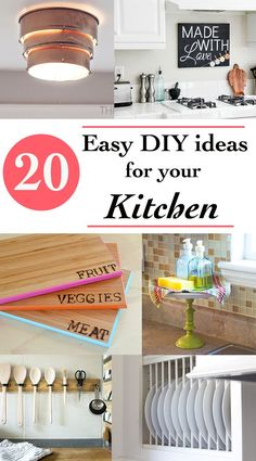 20 Easy and quick DIY project Ideas for your Kitchen. Spruce up you kitchen on a budget