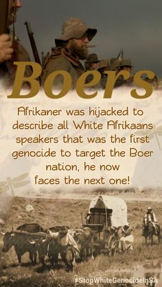 AFRIKANER WAS HIJACKED TO DESCRIBE ALL WHITE AFRIKAANS SPEAKERS THAT WAS THE FIRST GENOCIDE TO TARGET THE BOER NATION, HE NOW FACES THE NEXT ONE! #CulturalGenocide #StopWhiteGenocideInSA Tactical Survival, My Land, African History, The Next, All White, World History, South Africa, Target, Army