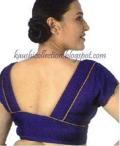 Sparkling Fashion: blouse neck designs