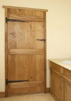 Oak internal cottage door - we have that can be restored. barn style oak door, tiled flooring, built in oak vanity unit, Cottage Doors Interior, Cottage Style Doors, Interior Door, Internal Cottage Doors, Internal Doors, Oak Doors, Wooden Doors, Panel Doors, Rustic Doors