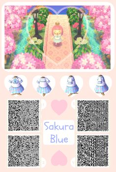 """wonder-crossing: """" Sakura Blue by wonder-crossing. I got a few requests, most following along the lines of spring, pink, sakura, and blue. So this is what I made from combining those words :) Enjoy..."""