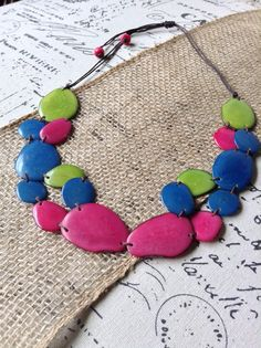 Tagua Necklace Natural Necklace Eco friendly by GalapagosTagua