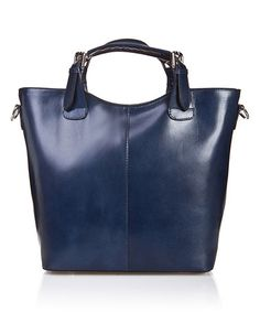 Another great find on #zulily! Blue Square-Handle Leather Tote #zulilyfinds