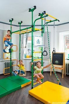 Indoor Playground Set for Kids Pegasus *** Available in two colors *** Why you should buy this item? * This model comes with Gymnastic Rings, Rope, Swing, Trapeze bar, Backboard, Horizontal Ladder, Curve Ladder. * You can choose from 2 different colors: Green, Blue * NB! Please write me after your purchase or in the transaction message what color you want. By default I will send you Green color. * The horizontal bar is movable allowing for greater flexibility. * Its most advanced, ambitious…