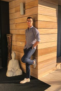 Cristiano Ronaldo wearing  Nike SB FTM Chino Pants, CR7 Waves Derby 01 Nubuck Shoes