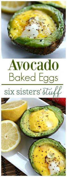 Avocado Baked Eggs from SixSistersStuff.com | Looking for a healthy, delicious breakfast? This avocado baked egg tastes amazing and will keep you full until lunch!