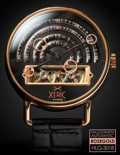 The Xeric Halograph Rosegold Automatic Watch - The Newest Watch from Xeric Watches Amazing Watches, Beautiful Watches, Cool Watches, Watches For Men, Men's Watches, Unique Watches, Stylish Watches, Pocket Watches, Sport Watches