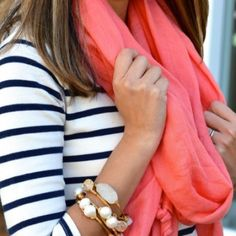 Sheer Vibrant coral XL scarf Beautiful orange scarf to be worn a multitude of ways! Would make a perfect beach sarong! Please note the scarf I'm selling does NOT have tassels! Cover shot via Pinterest (lulus.com) and last photo via bloglovin. Accessories Scarves & Wraps