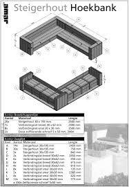 Afbeeldingsresultaat voor steigerhouten bank maken bouwtekening