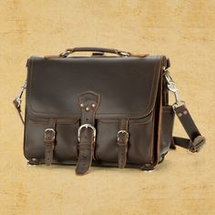 Front Pocket Briefcase  Saddleback Leather Co. in Dark Coffee Brown.