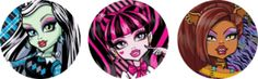 Monster High in Pink: Free Printable Kit.