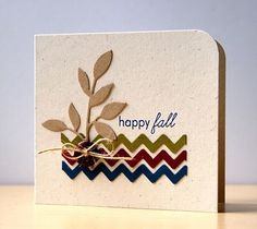 zig zag rick rack | ... leaf, Christmas colors for the zig zags and make it a Christmas card