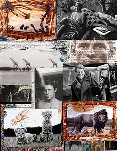 Peter Beard - wildlife photographer, artist, diarist & writer.