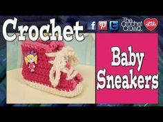 Baby Sneaker Booties + Video Tutorial - The Crochet Crowd ✿⊱╮Teresa Restegui http://www.pinterest.com/teretegui/✿⊱╮